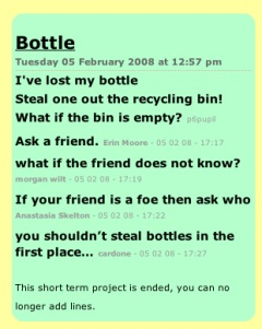 Bottle Poem