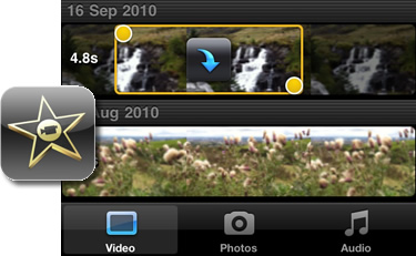 Imovie import video