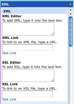 Glow xml Webpart Empty
