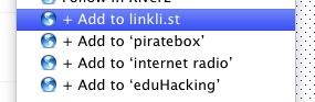 Linkli.st Bookmarklet