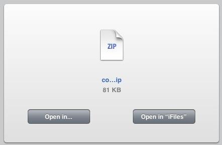 open in ifiles safari