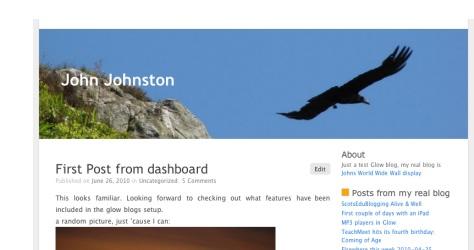 Glow Blog Screenshot
