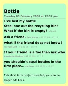 Bottle Poem