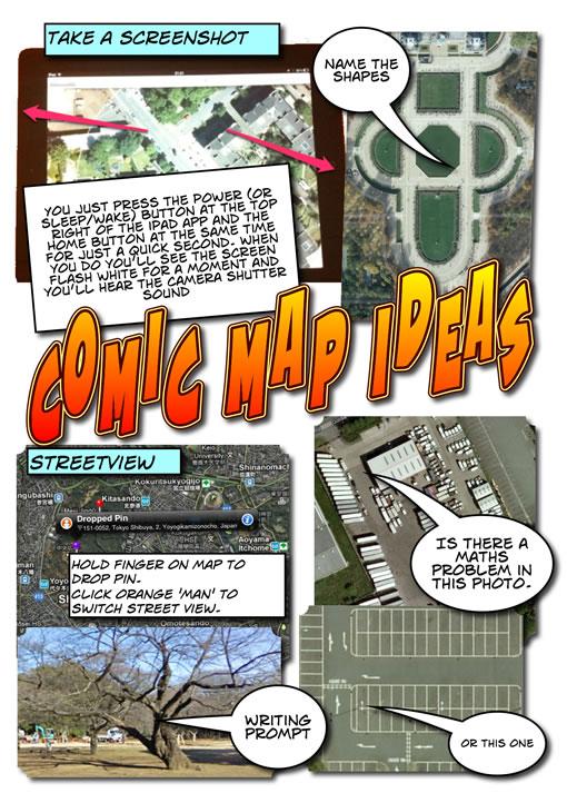 Comic map Ideas