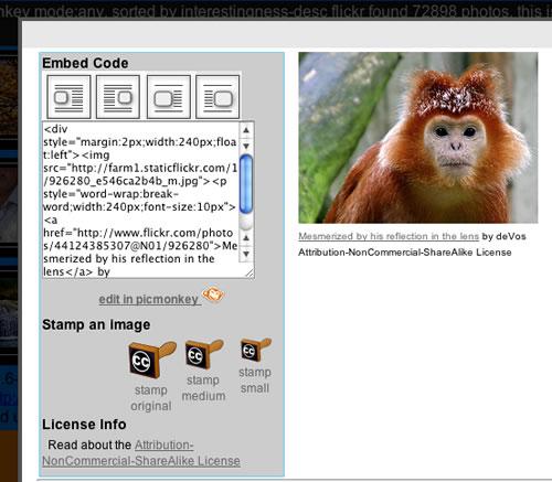 Flickr cc Picmonkey
