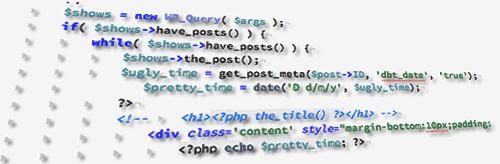 Wordpress code skew