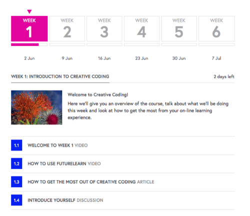 Futurelearn Weekview