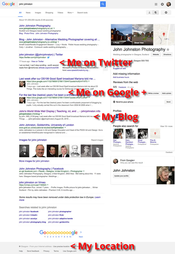 google-me-text