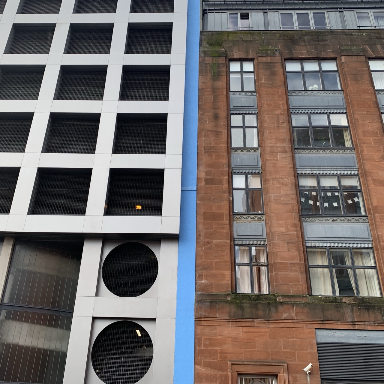 New and old buildings Glasgow