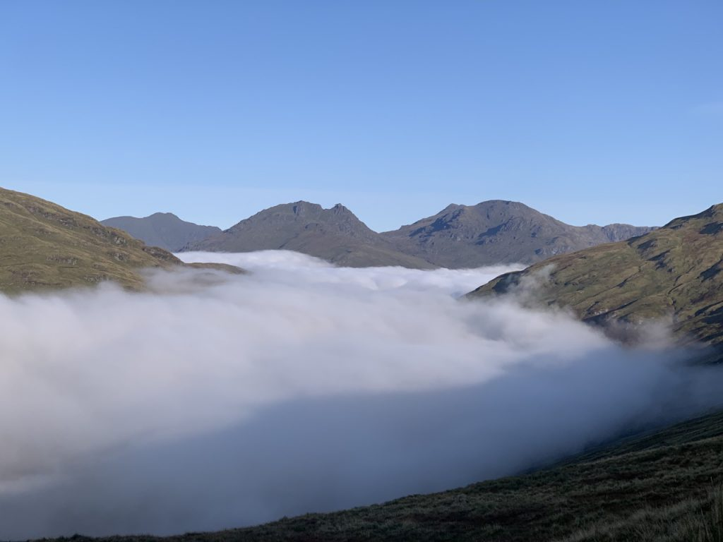 Above the clouds looking at the cobbler