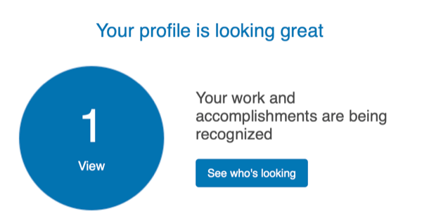 Thanks for letting me know linked in. I can hardly contain myself!
